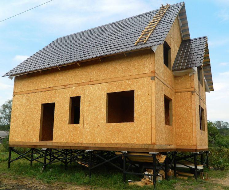 Каркасные дома на винтовых сваях