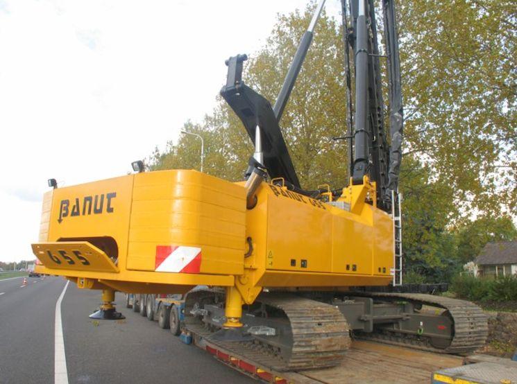 транспортировка установки Banut к месту работ