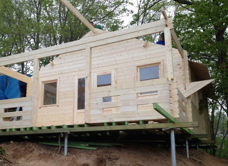 Как построить дом на сваях своими руками 193